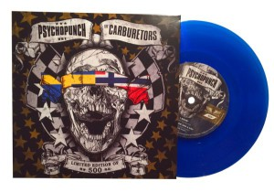 "Psychopunch / The Carburetors - ??? (7"" Split Single / blaues Vinyl)"
